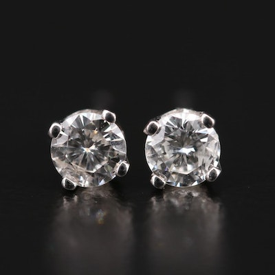 14K White Gold 0.34 CTW Diamond Stud Earrings