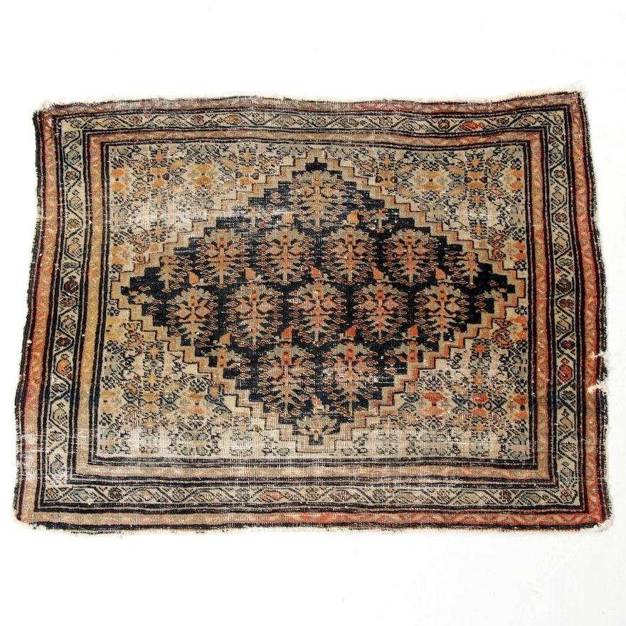 2'0 x 2'7 Hand-Knotted Persian Tabriz Rug, 1900s