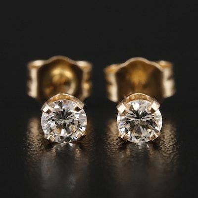 14K Yellow Gold 0.34 CTW Diamond Stud Earrings