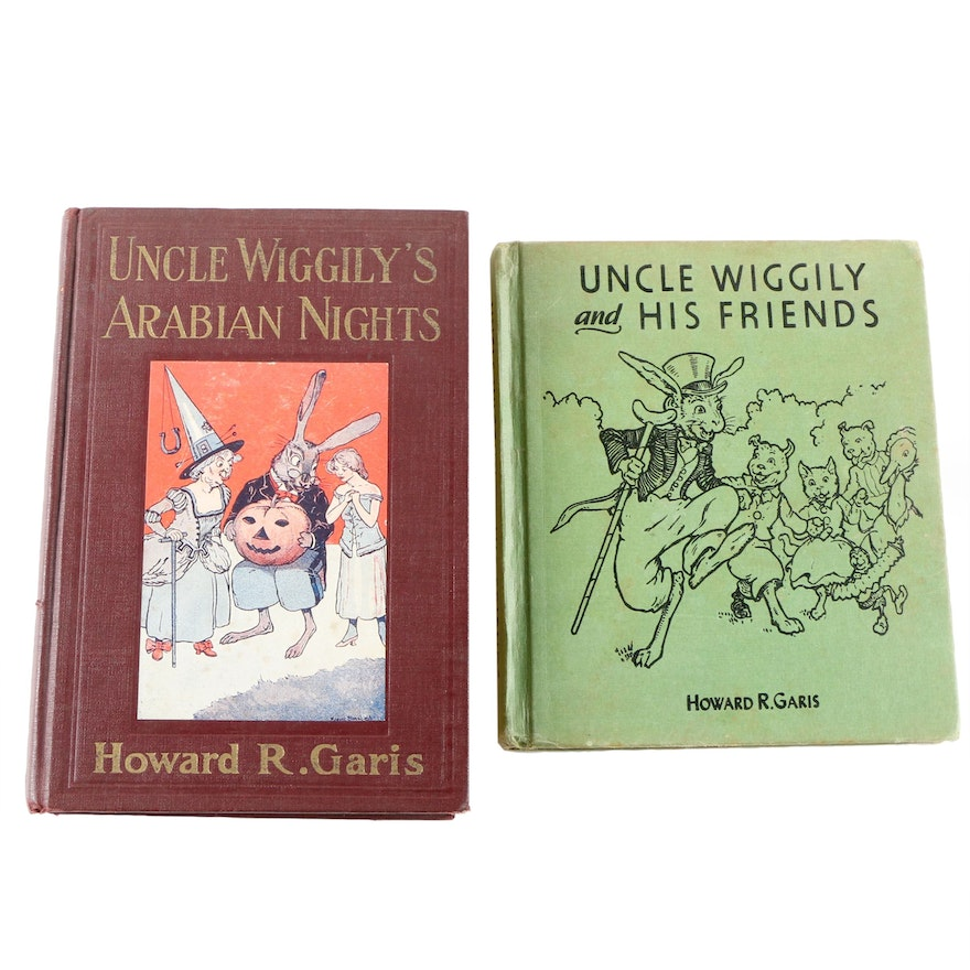 """1917 """"Uncle Wiggily's Arabian Nights"""" and 1955 """"Uncle Wiggily and His Friends"""""""