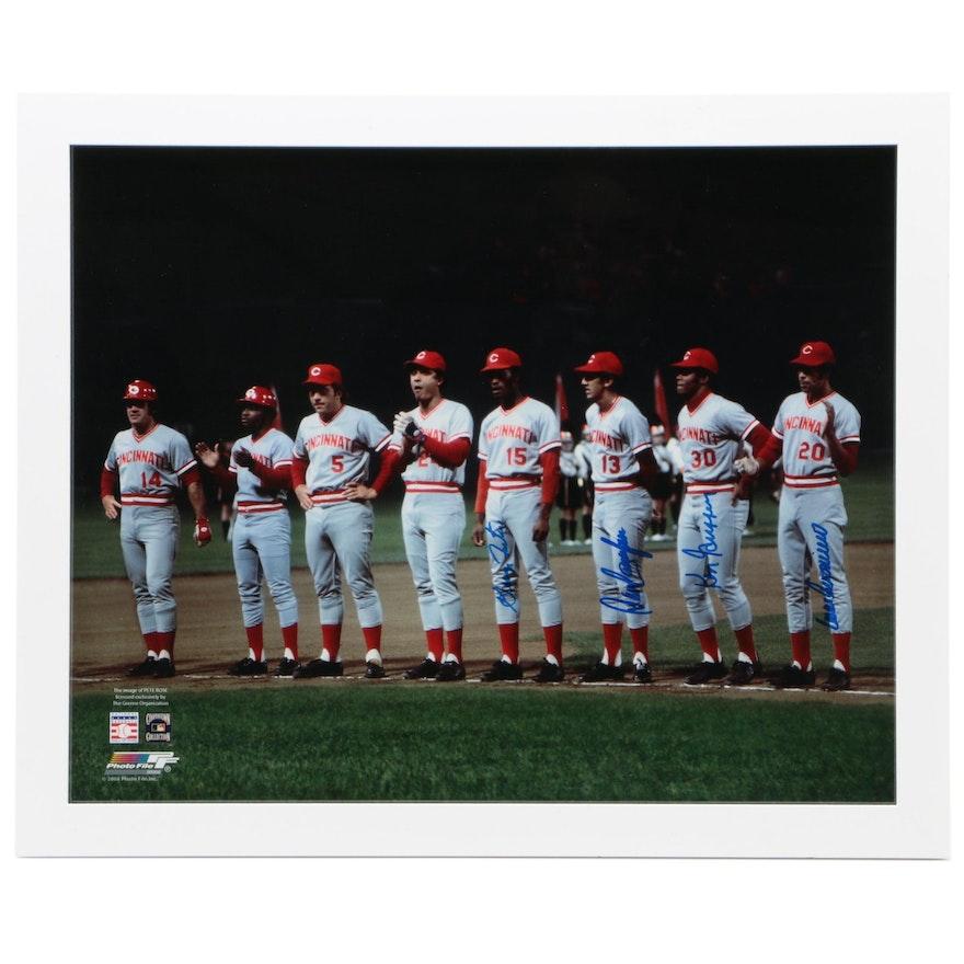 Cincinnati Reds World Series Signed Photo Print, Framed