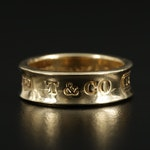 "Tiffany & Co. ""1837"" 18K Yellow Gold Band"
