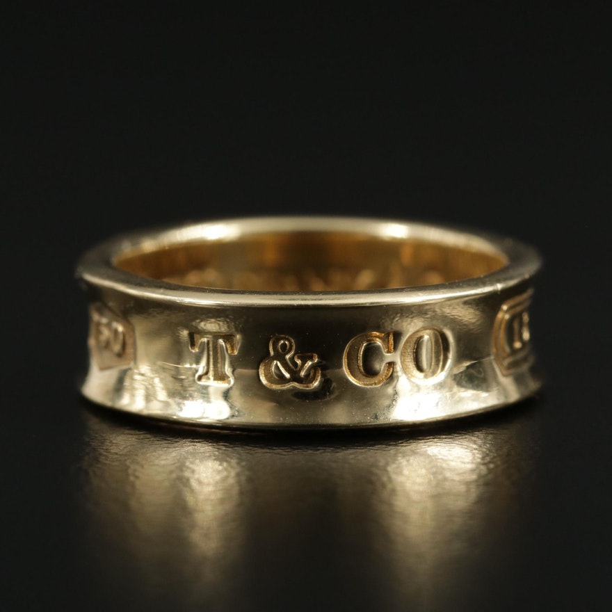 "Tiffany & Co. ""1837"" 18K Yellow Gold Band"