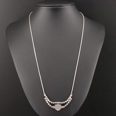 Harley-Davidson 14K White Gold 1.87 CTW Diamond Necklace