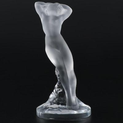 "Lalique ""Danseuse Bras En Haut"" Frosted Crystal Figurine"