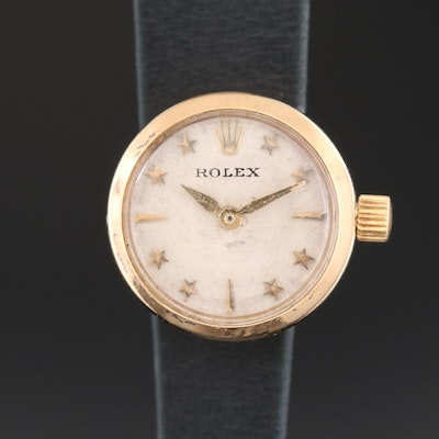 Vintage Rolex Orchid 18K Gold Wristwatch with Stelline Dial, 1956