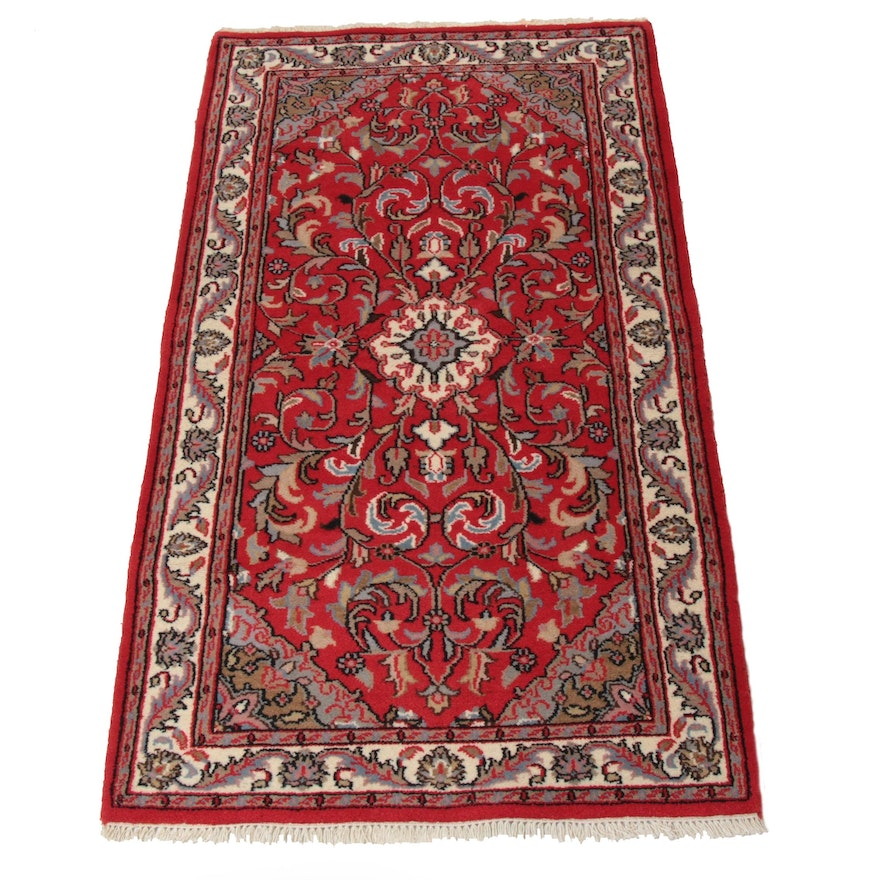 3'1 x 5'7 Hand-Knotted Indo-Persian Kashan Rug, 2000s
