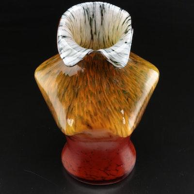 Hand Blown Art Glass Female Torso Vase