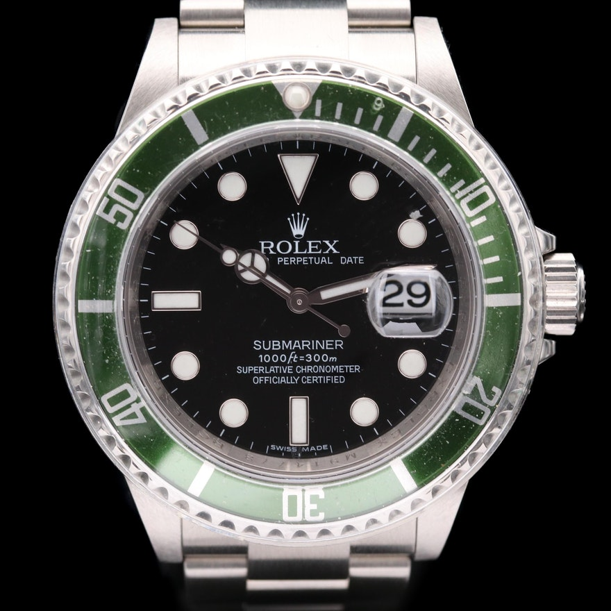 "Rolex Submariner ""Kermit"" 50th Anniversary Stainless Steel Wristwatch, 2007"
