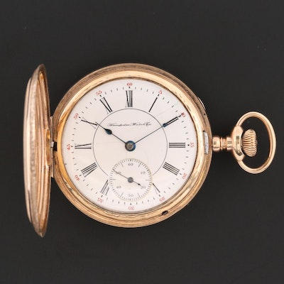Antique Hampden Gold Filled Pocket Watch, 1901