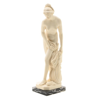 Stone Composite Female Nude Sculpture after Amilcare Santini