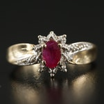 10K Yellow Gold Ruby Ring