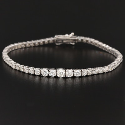 14K White Gold 4.17 CTW Diamond Tennis Bracelet