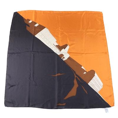 """Louis Vuitton X Arata Isozaki """"The Art of Architecture"""" Silk Scarf"""