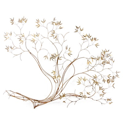 Brass Tree Branches Sculpture Wall Hanging, Mid to Late 20th Century