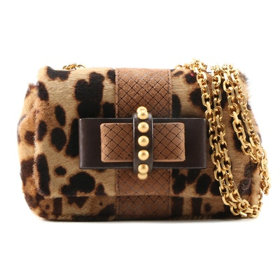 Christian Louboutin Sweet Charity Leopard Print Calf Hair Bag