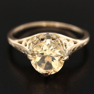 14K Yellow Gold Citrine Ring