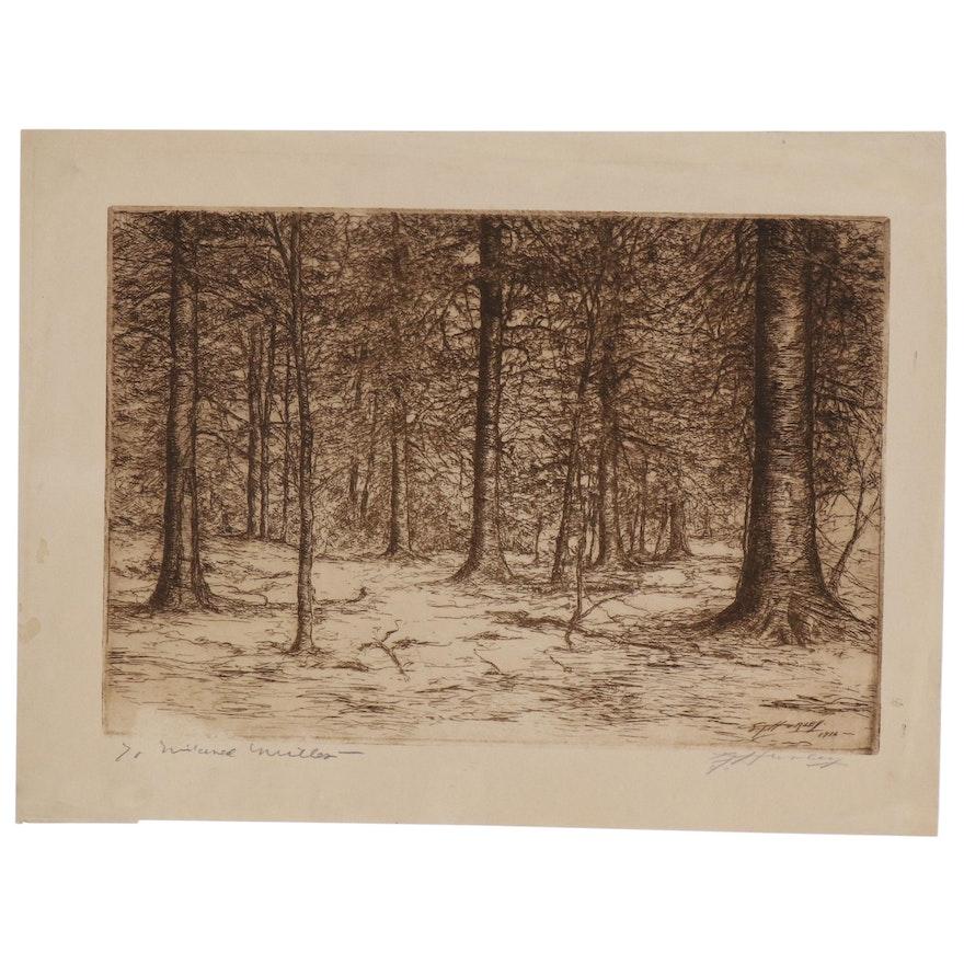 Edward T. Hurley Landscape Etching