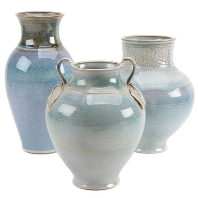 Ulla Merz Speckle Glaze Porcelain Vases