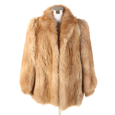 Goat Fur Jacket with Banded Cuffs, Vintage
