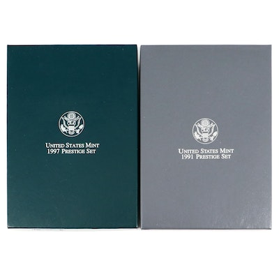 Two United States Mint Prestige Sets Including a 1991 and 1997