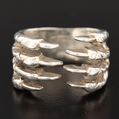 Sterling Silver Claw Ring