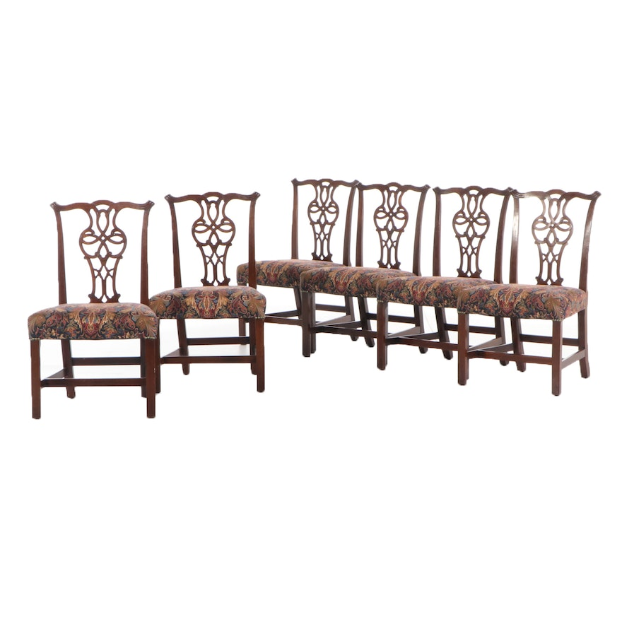Six George III Mahogany Dining Side Chairs, Late 18th/Early 19th Century