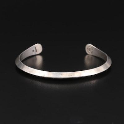 Modernist Robert Nilsson Sterling Silver Cuff Bracelet