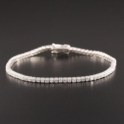 14K White Gold 2.51 CTW Diamond Tennis Bracelet