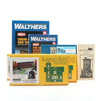 Walthers and Branchline Model Trains Fine Scale Laser-Art Landscaping Structures