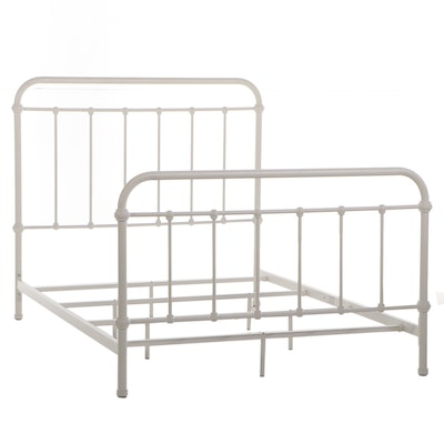 Furniture of America White Coated Metal Full Bed Frame