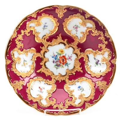 Meissen Rococo Hand-Painted Porcelain Centerpiece Bowl, 19th Century