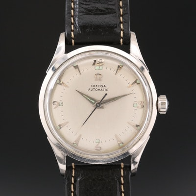 Omega Stainless Steel Automatic Wristwatch