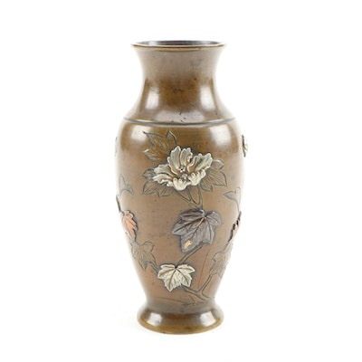 East Asian Mixed Metal Vase