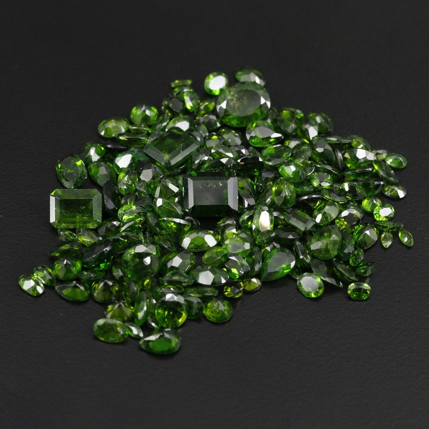Loose 79.02 CTW Diopside Gemstones