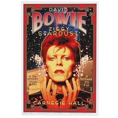 "David Edward Byrd Giclée Print ""Bowie/Ziggy at Carnegie Hall 1972"""