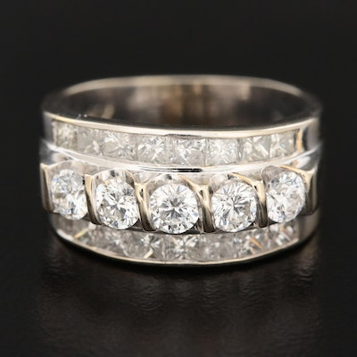 14K White Gold 1.66 CTW Diamond Ring