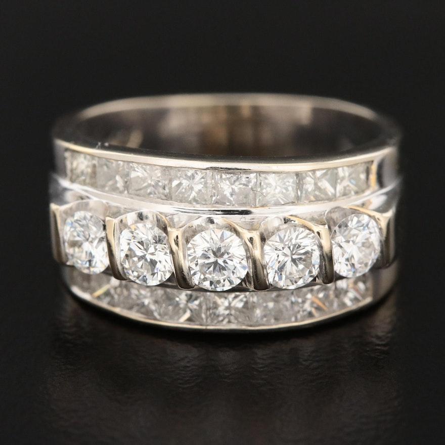 14K White Gold 1.66 CTW Diamond Ring