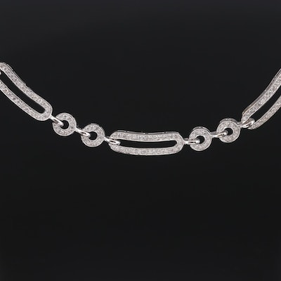 Cardow 14K White Gold 4.02 CTW Diamond Necklace