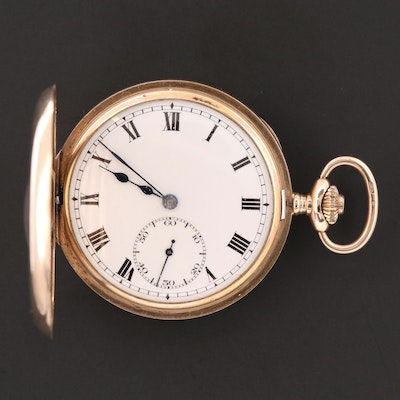 9K Gold Demi Hunter Cyma Pocket Watch