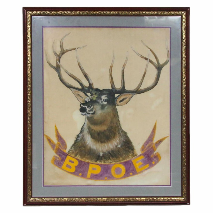 Benevolent and Protective Order of the Elks Acrylic Painting