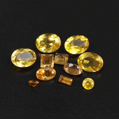 Loose 6.56 CTW Citrine and 0.29 CT Spessartine Gemstones