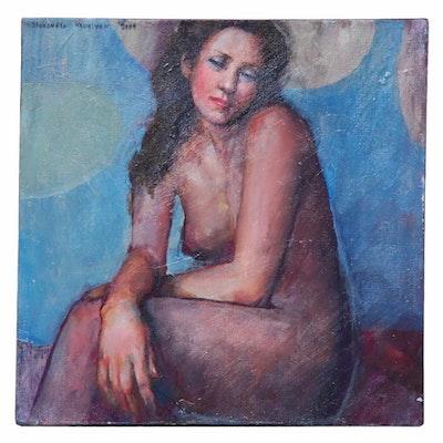 Alexandra Zecevic Female Nude Figure Acrylic Painting, 2009
