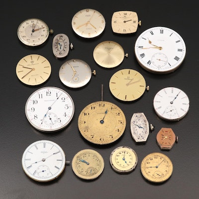 A Variety of Wristwatch and Pocket Watch Movements