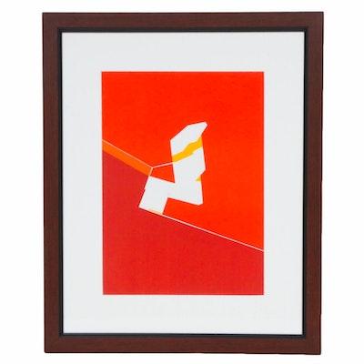 """Pablo Palazuelo Color Lithograph for """"Derrière le Miroir,"""" 1970"""