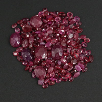 Loose 90.40 CTW Ruby Gemstones