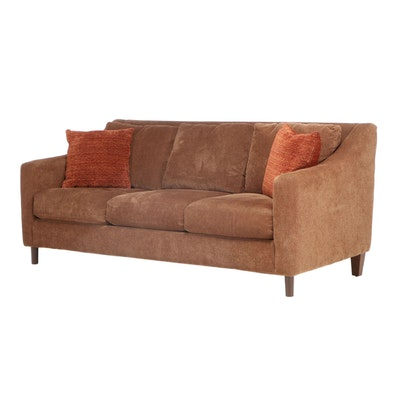 Havertys Upholstered Sofa with Accent Pillows, Contemporary