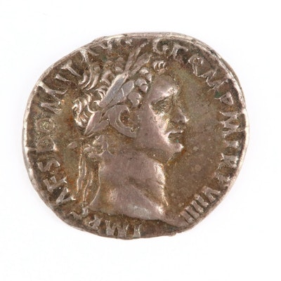 Ancient Roman Imperial AR Denarius of Domitian, ca. 89 A.D.