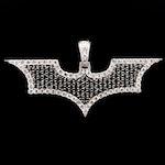 10K White Gold 3.45 CTW Diamond Bat Pendant