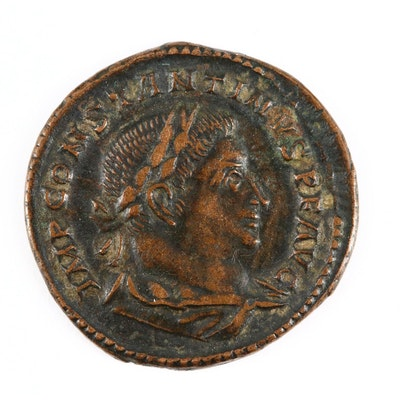 """Ancient Roman AE Follis Coin of Constantine I, """"The Great,"""" ca. 310 A.D."""